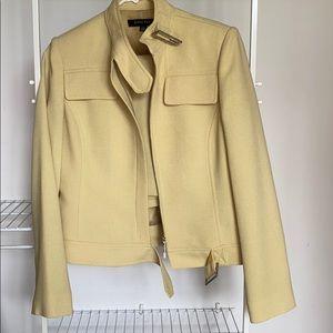 Anne Klein Vintage Yellow Size 4 Suit w/ Skirt